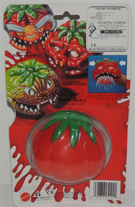 killer tomato toys scarce 1991 mattel ketchuk squirtamato attack of the