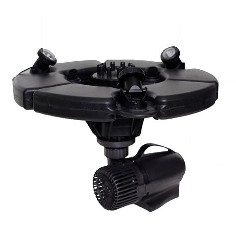 pond fountain with lights pond boss 174 pro 189 hp floating fountain with lights