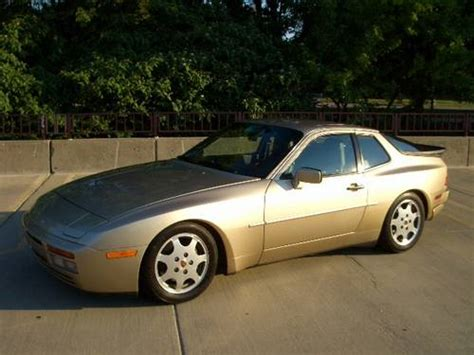 porsche 944 gold 1989 porsche 944 turbo 86k miles 5 speed gold black