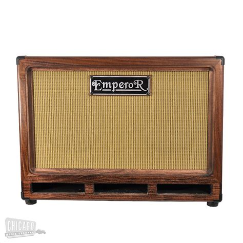 emperor bass cabinet 2x10 cb mahogany with wheat