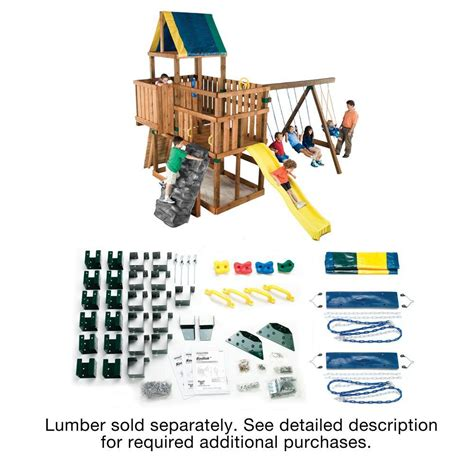build a swing set kit kodiak diy play set hardware kit swing n slide wooden
