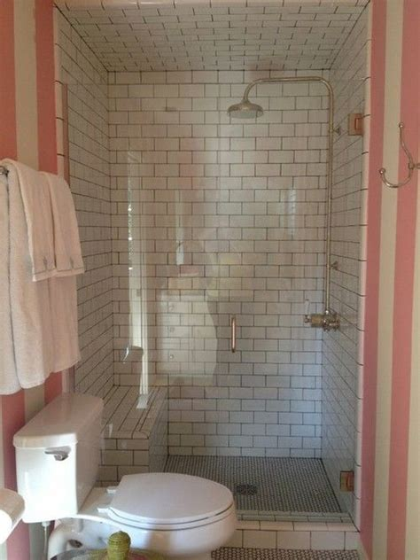 pink and cream bathroom sweet and simple bathroom with white subway and hex tile