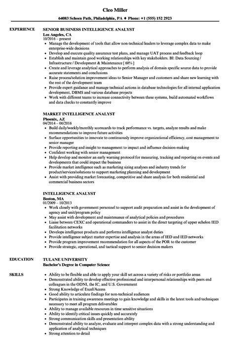 Intelligence Analyst Resume by Intelligence Analyst Resume Sles Velvet
