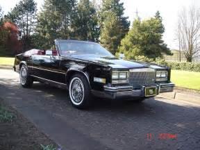 85 Cadillac Biarritz 1985 Black Eldorado Convertible