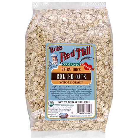 Organic Rolled Oats Sereal 500 Gr bob s mill organic rolled thick whole grain oats 32 oz pack of 4 walmart