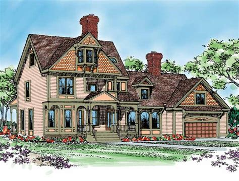 queen anne home plans home plans homepw14604 3 502 square feet 4 bedroom 3