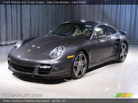slate grey porsche slate grey metallic 2007 porsche 911 turbo coupe sand
