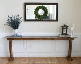 How To Build A Sofa Table Diy Console Table For 20 The Happier Homemaker