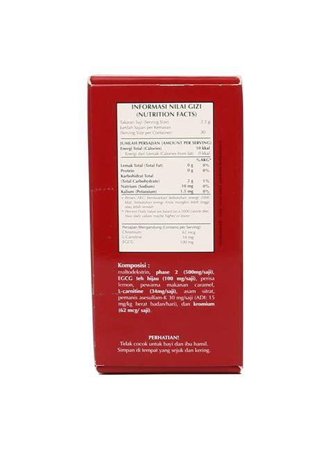 Wrp Green Tea 30 Sachet wrp diet tea green tea box 30x2 5g klikindomaret