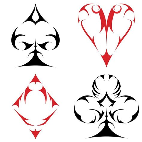 card suit tattoo designs best 25 card ideas on deck of cards