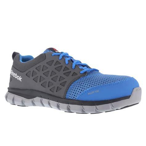 Reebok Blue Sz 42 Insole 27cm reebok womens sublite blue grey cushioned alloy toe work shoe rb044