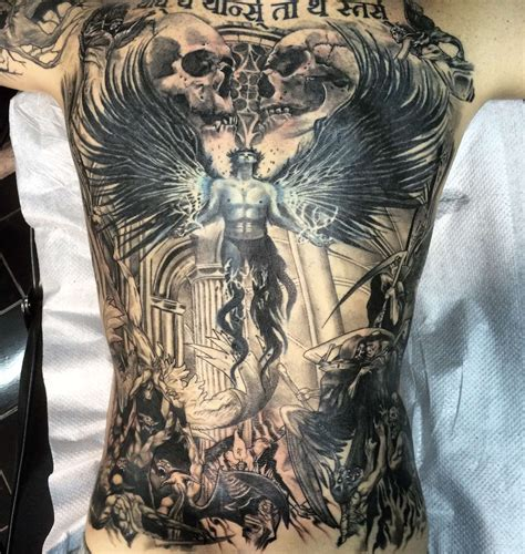 angels and demons tattoo rodriguez studio battle demons and