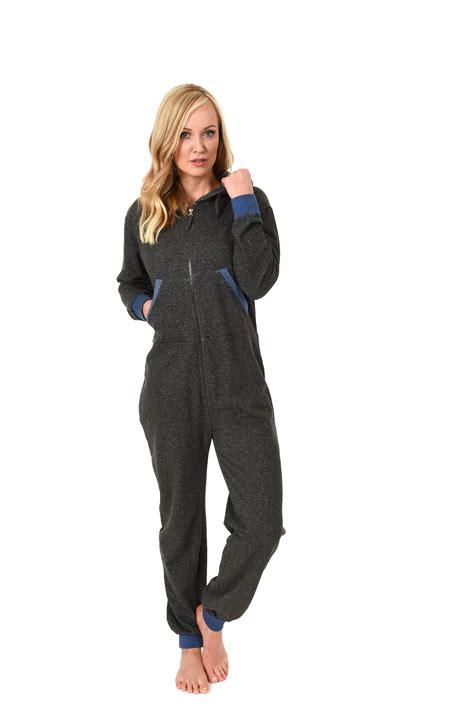 Jumpsuit Overall 1 damen jumpsuit overall schlafanzug onesie einteiler