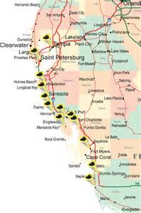 map of west coast florida west florida gulf coast map