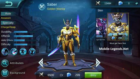 wallpaper mobile legend saber saber high ad build mobile legends