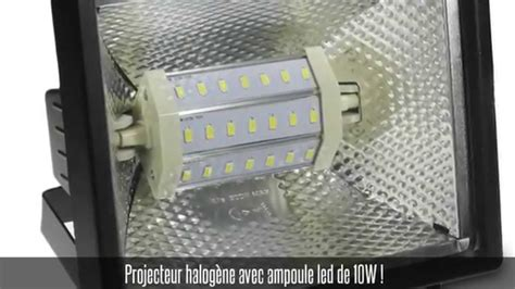 Led Halogenlen by Projecteur Halog 232 Ne Noir Ip 54 Oule Led Smd 10w