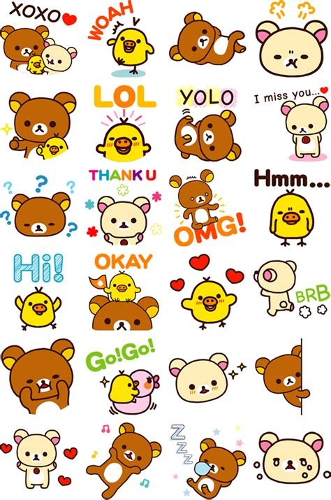 printable stickers kawaii free rilakkuma stickers for facebook 180 ノ rilakkuma