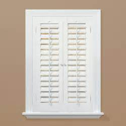 Window Shutters Interior Home Depot by Homebasics Plantation Faux Wood White Interior Shutter