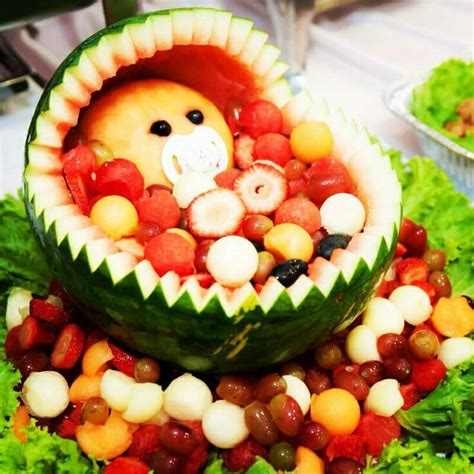 Watermelon Carving Baby Shower by Simple Watermelon Baby Fruits Basket Baby Shower Ideas