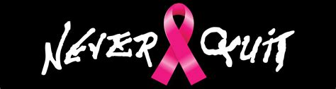 Stiker Riben never quit two color die cut decal pink ribbon never quitnever quit