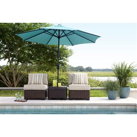 allen roth blaney wicker patio shop allen roth blaney textured black wicker cushioned