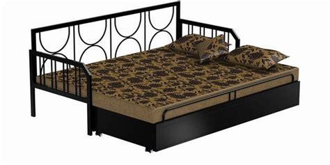 sofa cum bed cost buy metallic sofa cum bed by furniturekraft online metal