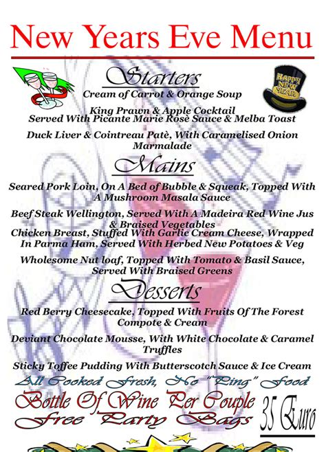 new year menu meaning dolphin inn costa teguise pub and sports bar