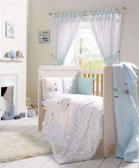 blue 5 cot cotbed bedding curtains set blue mamas papas baby
