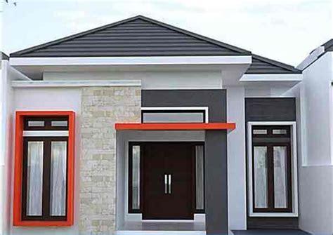 cat dinding luar propan tampak depan rumah minimalis hd