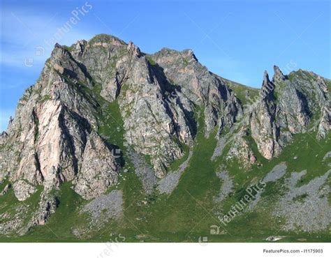 rugged rocks mountains in stock picture i1175903