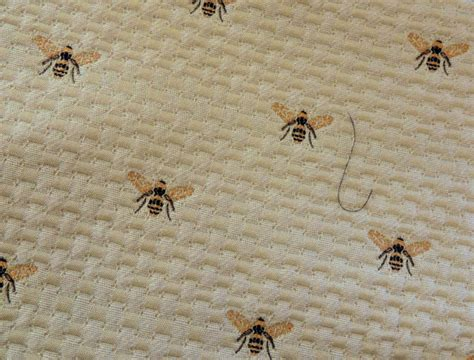bee upholstery fabric embroidered bumble bee upholstery cotton fabric yardage