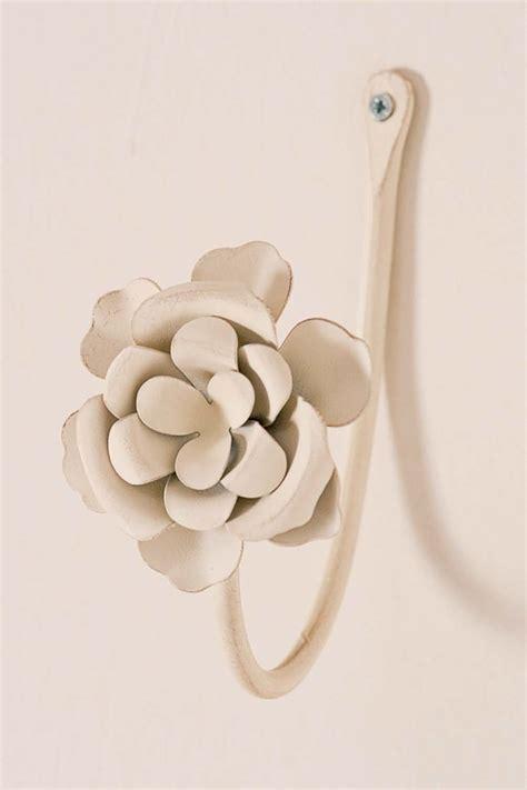 embrasse per tende embrasse provenzali ferro bianco roselline set 2pz 14x7