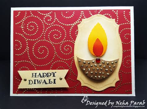 Diwali Handmade Cards - completely handmade diwali cards day 2