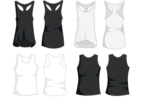 top templates tank top template vectors free vector