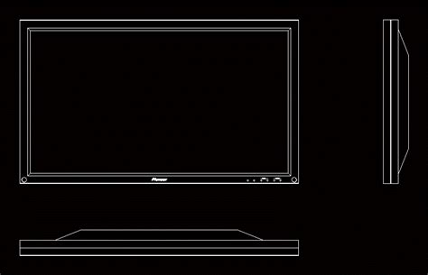 Best Free 2d Cad 2d Tv In Autocad Drawing Bibliocad