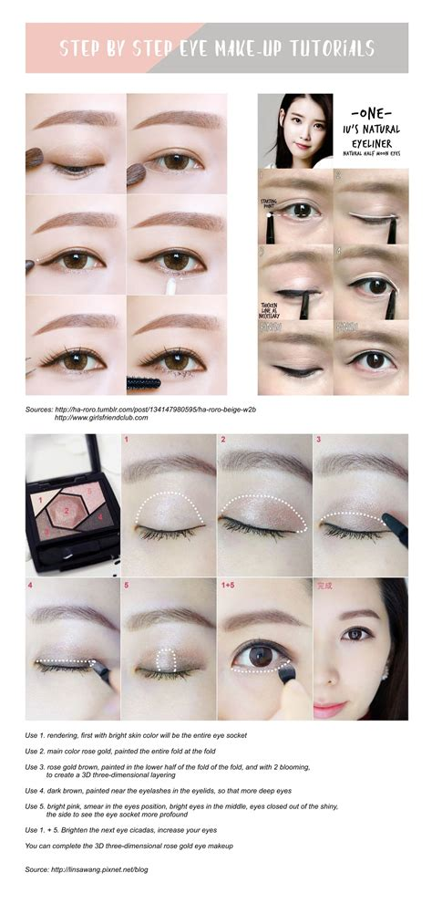 tutorial makeup korea sasyachi step by step korean eye makeup tutorial tobebabe