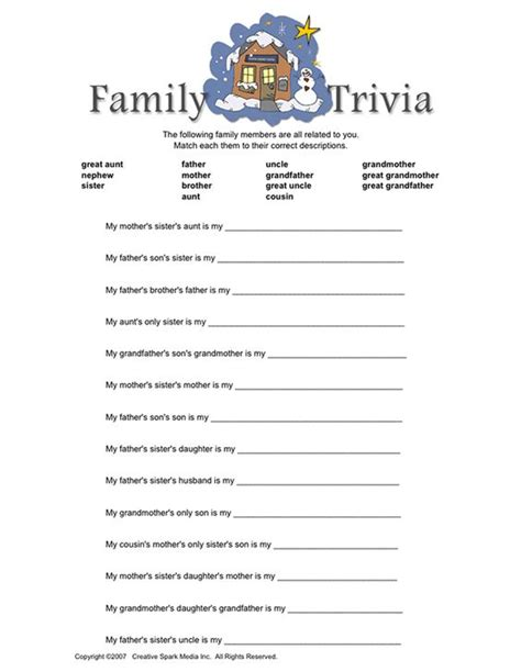free printable family reunion worksheets pinterest the world s catalog of ideas