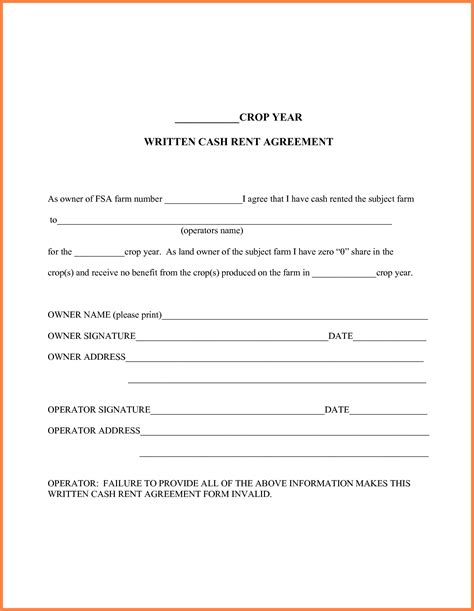 farm rental agreement template simple farm land lease agreement form best 7 owner