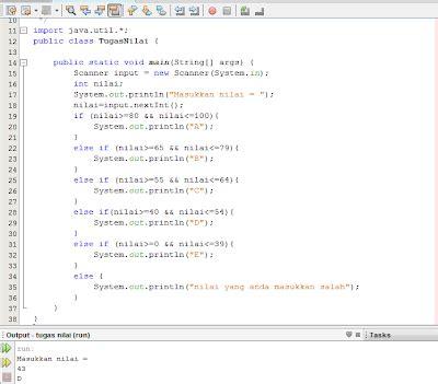 Dasar Pemrograman 2 Implementasi Menggunakan Java C Matlab my lecture java1 contoh program yang menggunakan kondisi