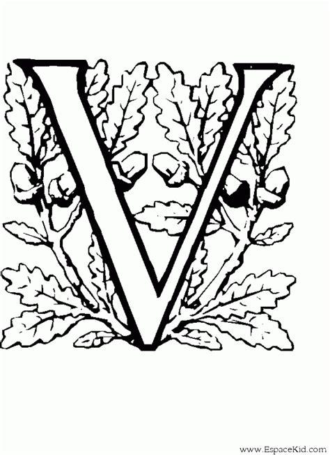 Coloriage Lettre V 224 Imprimer Dans Les Coloriages Lettrine