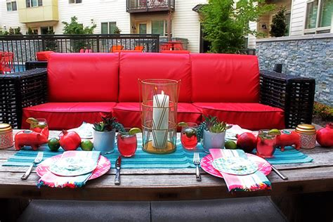 summer backyard bold and colorful summer party with pama