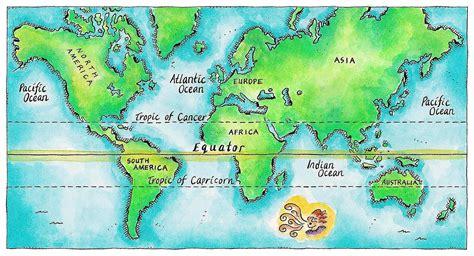 map usa equator map of equator world map 07