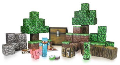Minecraft Papercraft Overworld Deluxe Set - minecraft 1 minecraft papercraft overworld deluxe set
