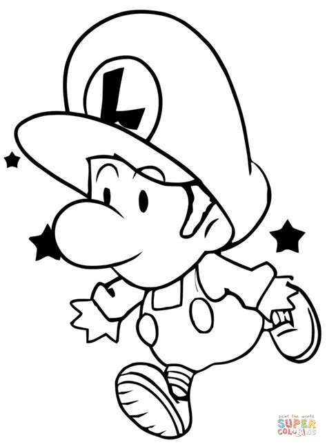 mario kart coloring pages luigi baby luigi coloring page free printable coloring pages