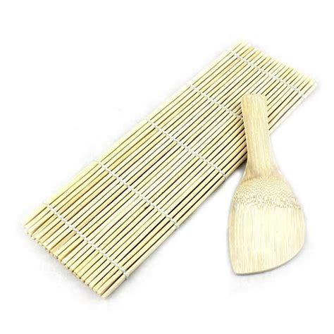 Maker Mat by Bamboo Sushi Rolling Maker Mat Tool W Rice Ladle Wood