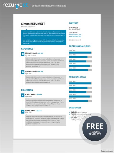 Resume Template Zoho by Soho Speech Resume Template