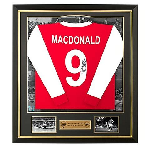 Kaos Arsenal Arsenal Signature 1 arsenal signed malcolm macdonald shirt official store