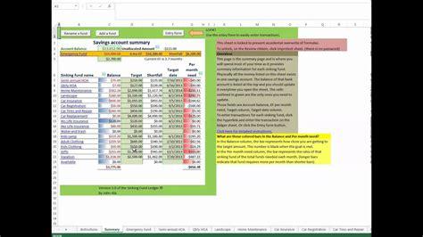 Sinking Sheet by J1dm Budget 7 Sinking Fund Tracking Sheet