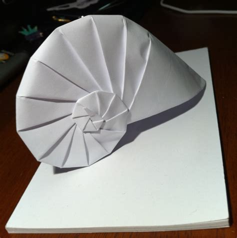 Origami Forms - 276 nautilus setting the crease