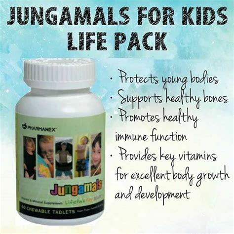 Vitamin Jungamals Jungamals Lifepack For 90 Chewable Tablets